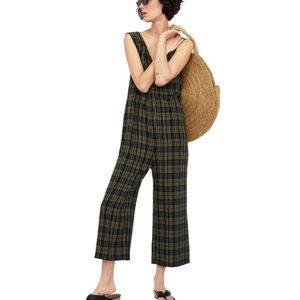 NWT ZARA CHECK JUMPSUIT